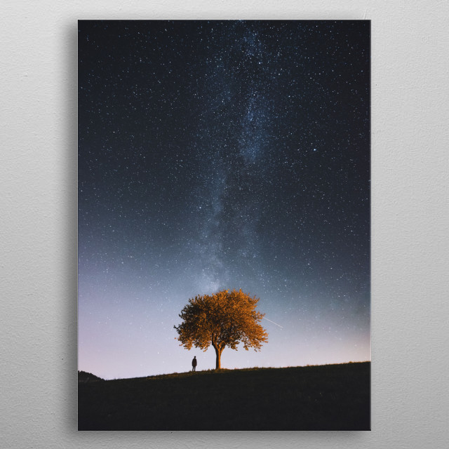 The Stars Above metal poster