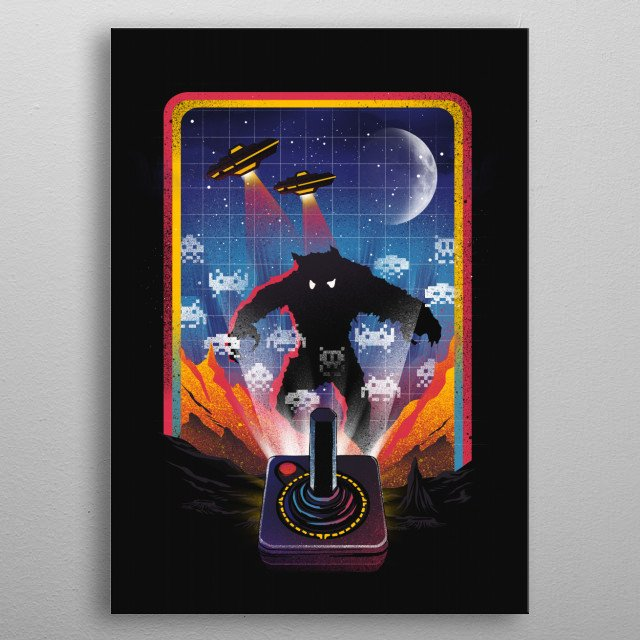 The Invaders metal poster