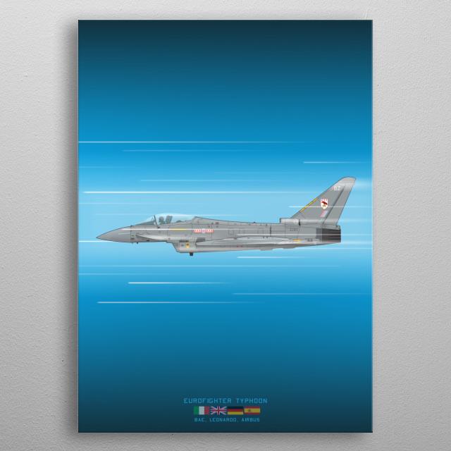 Eurofighter Typhoon metal poster