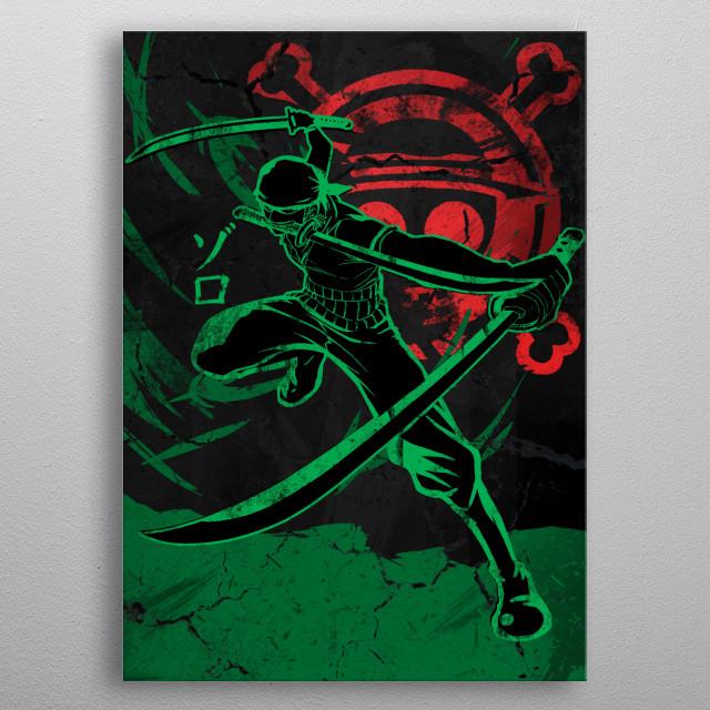 Heroic Zoro metal poster