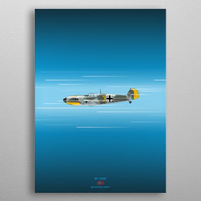 BF-109E Emil metal poster