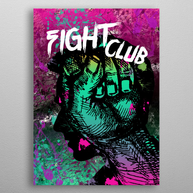 Fight Club - Minimal Movie Art # 1 metal poster