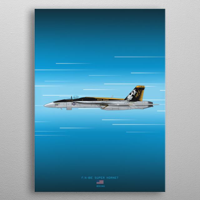 F/A-18E Super Hornet metal poster