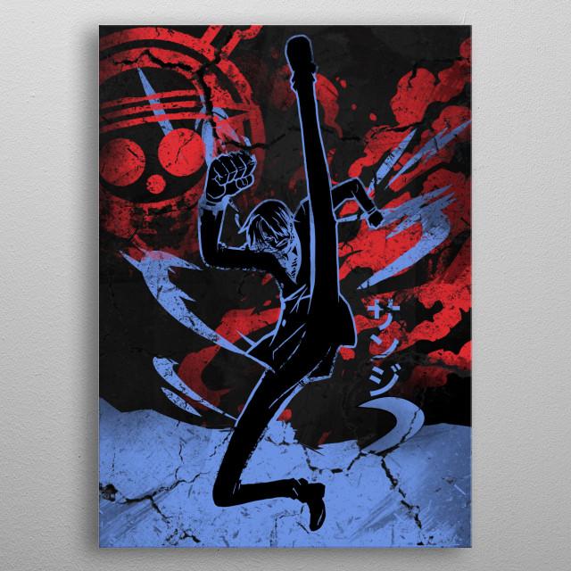 Heroic Sanji metal poster