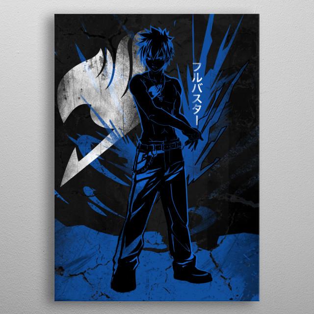 Heroic Ice Slayer Gray metal poster