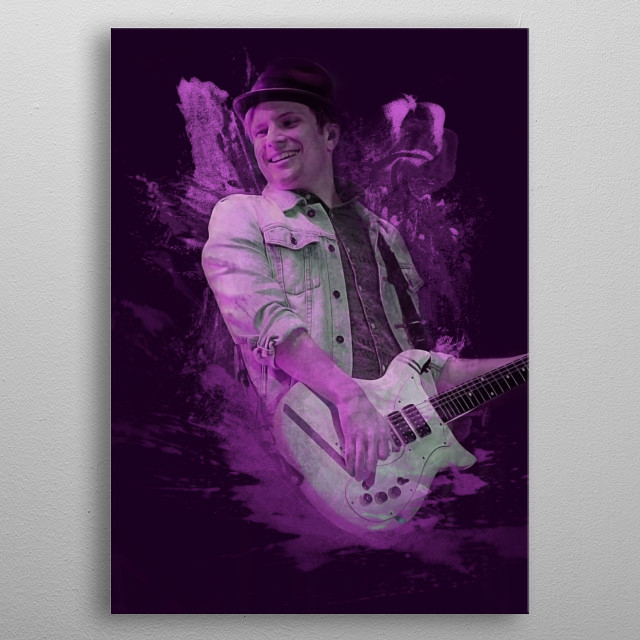 Patrick Stump - Fall Out Boy Abstract metal poster