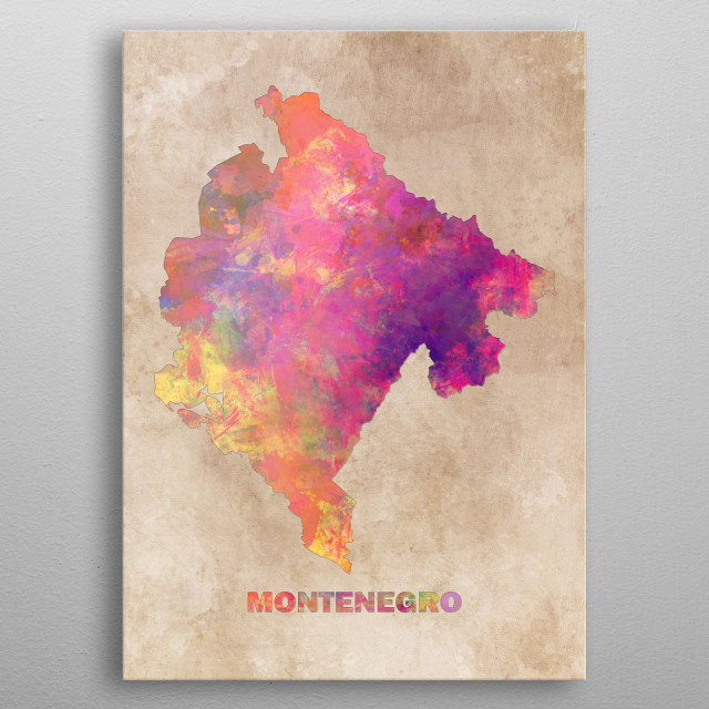 High-quality metal print from amazing Europe Map collection will bring unique style to your space and will show off your personality. metal poster