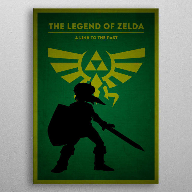 The legend of Zelda - A link to the past metal poster