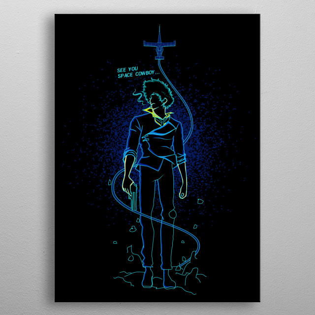 The shadow of space cowboy metal poster