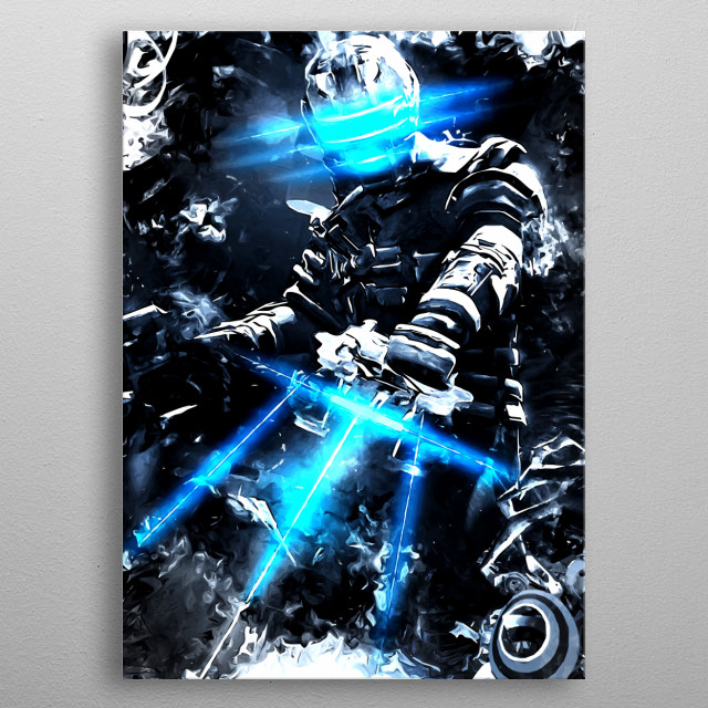 Dead Space White noise metal poster