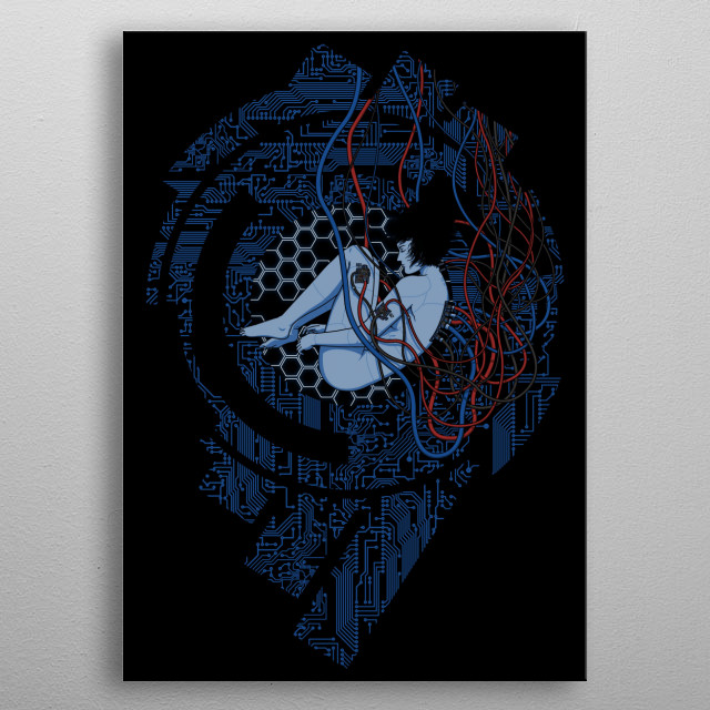 Wired Existence - Cyberpunk metal poster