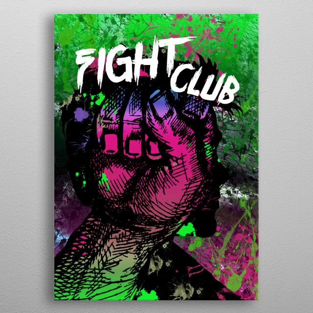 Fight Club - Minimal alternative Film Fanart #2 metal poster