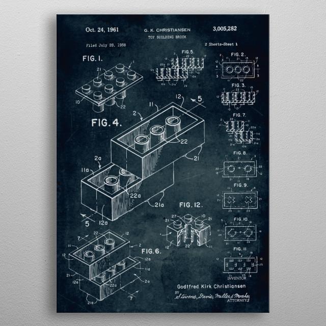 No071 - 1958 - Toy building brick metal poster