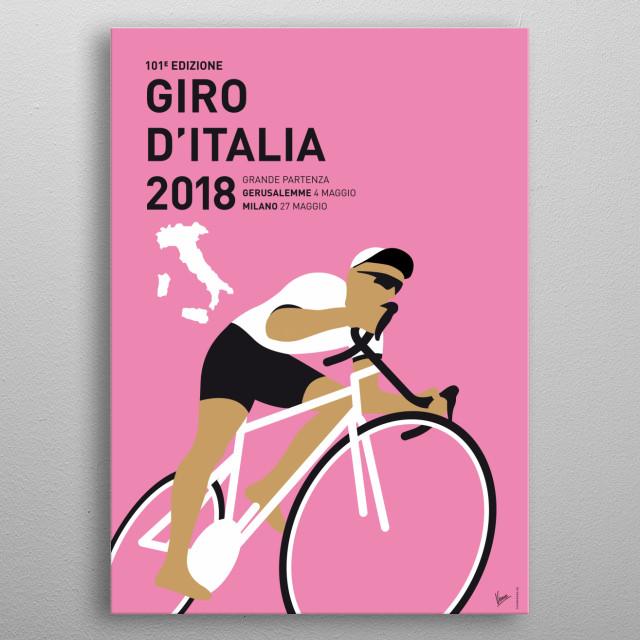 MY GIRO DITALIA MINIMAL POSTER 2018 metal poster