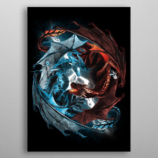 Game of Dragons metal poster