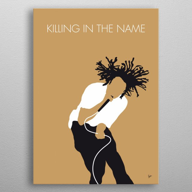 No100 MY Rage Against the Machine Minimal Music po metal poster