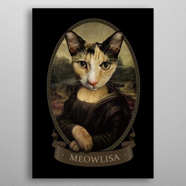 MEOWLISA metal poster