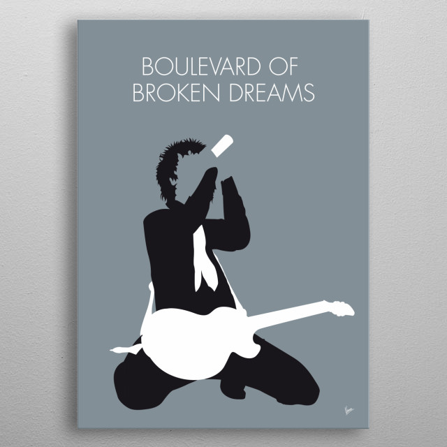 No117 MY Green Day Minimal Music poster metal poster