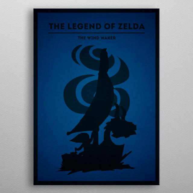 The legend of Zelda - The Wind Waker metal poster