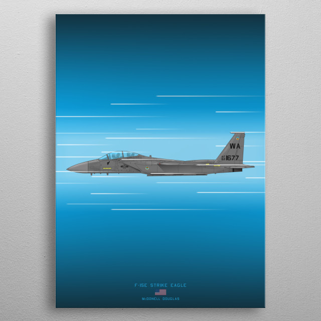 F-15E Strike Eagle metal poster