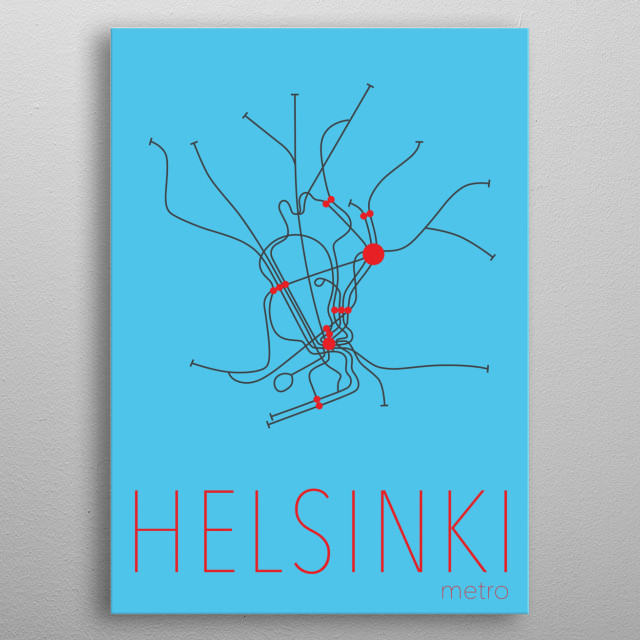 High-quality metal print from amazing Subway Plans collection will bring unique style to your space and will show off your personality. metal poster