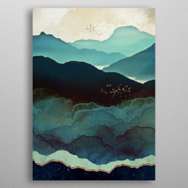 Indigo Mountains metal poster