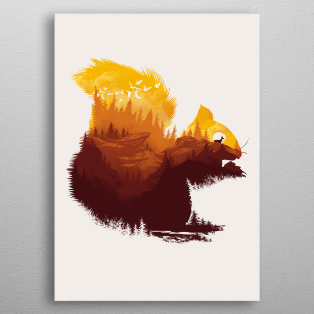 Be a Little Wild metal poster