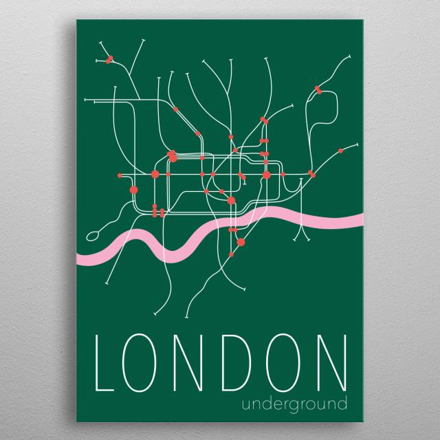 London Underground map metal poster