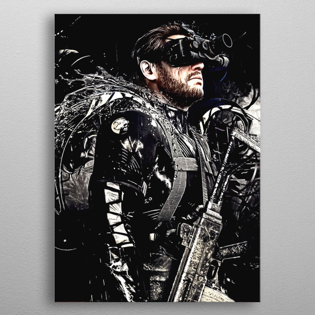 Metal Gear Solid V The boss metal poster