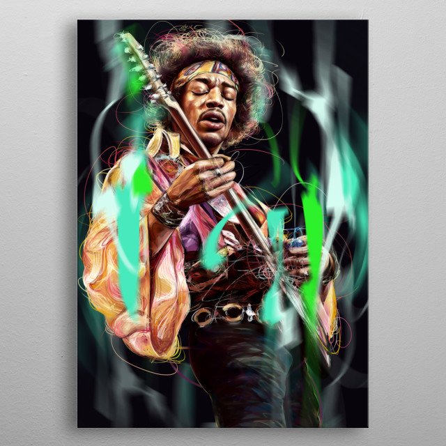 Jimi Hendrix metal poster