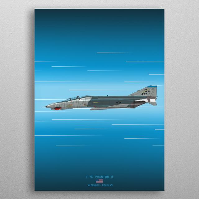 F-4E Phantom II metal poster