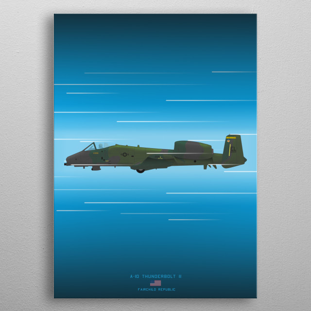 A-10 Thunderbolt II metal poster