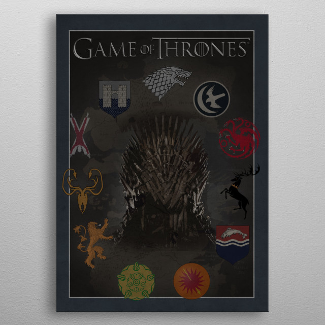 Game of Thrones metal poster