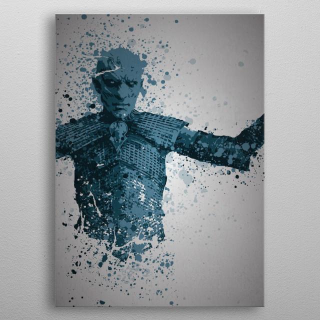 White walker Splatter effect, Game of Thrones metal poster