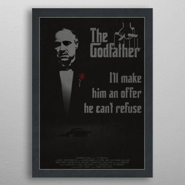 The Godfather metal poster