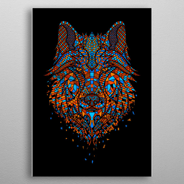 High-quality metal print from amazing Animal Mosaics collection will bring unique style to your space and will show off your personality. metal poster