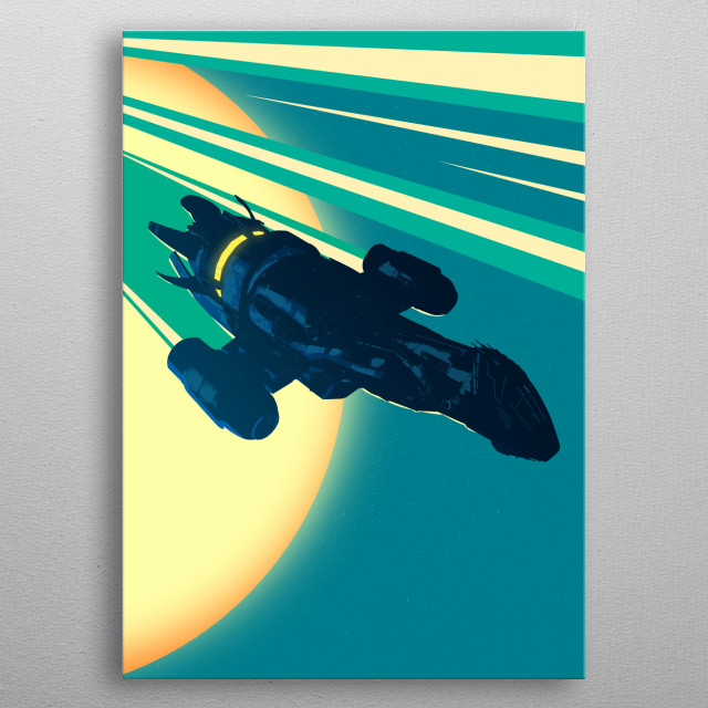 High-quality metal print from amazing Space Trucking collection will bring unique style to your space and will show off your personality. metal poster