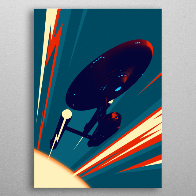 Fascinating metal poster designed by Mr Jackpots. Displate has a unique signature and hologram on the back to add authenticity to each design. metal poster