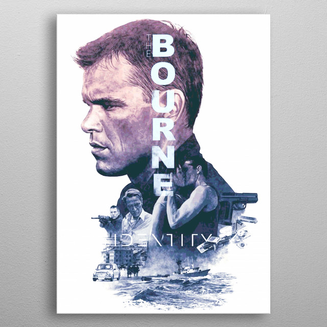 THE BOURNE IDENITY metal poster