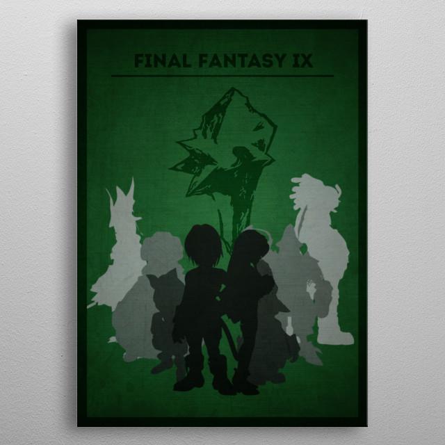 Final Fantasy IX - Minimalist portrait metal poster