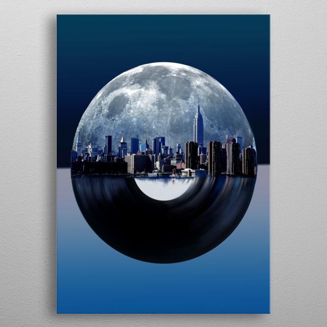 new york  city music 2 metal poster