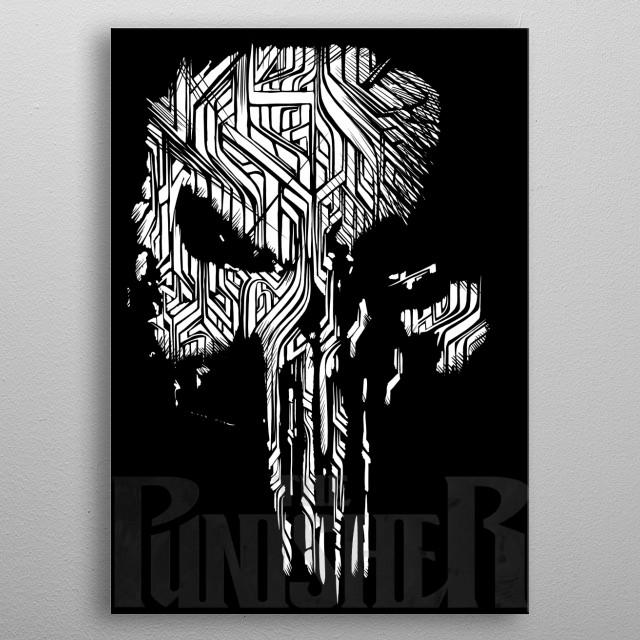 skull metal poster