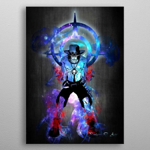 Portgas D. Ace metal poster