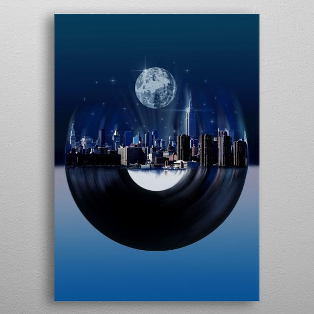 new york  city music metal poster