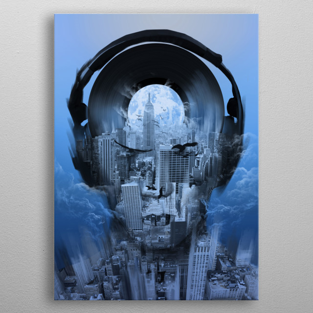 new york city sound 4 metal poster