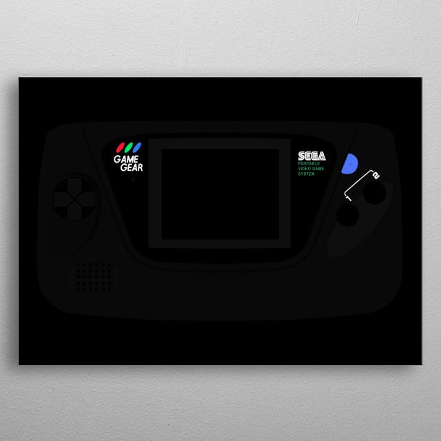 SEGA Game Gear on Black metal poster