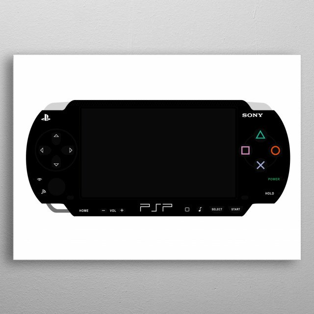 Sony PlayStation Portable metal poster