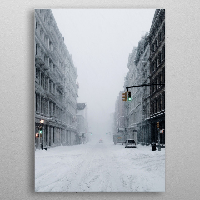 Snowing metal poster