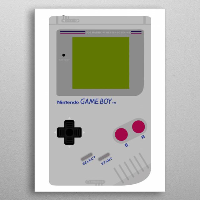 Nintendo Game Boy metal poster