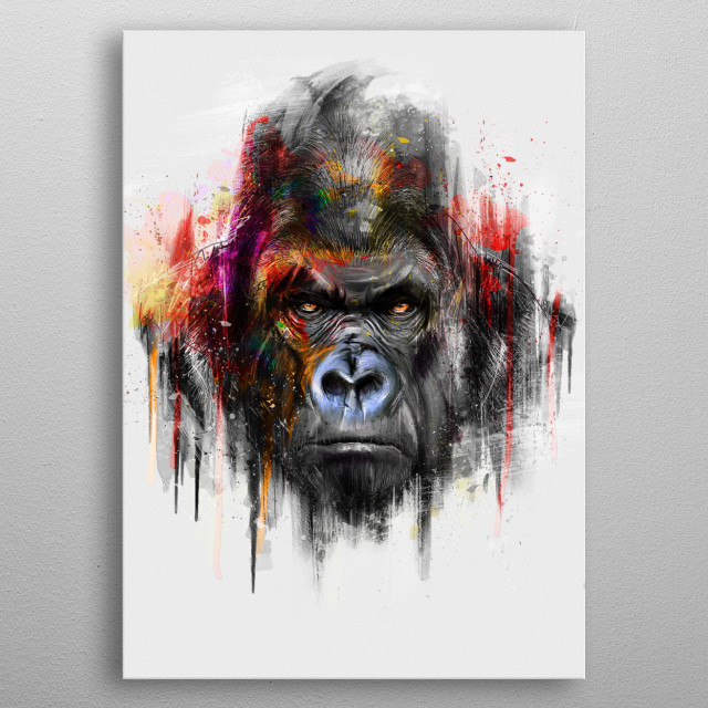 Gorilla (Alpha Series) metal poster